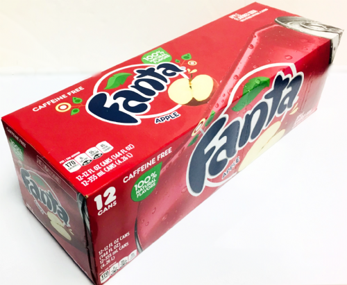 USA61 FANTA APPLE (RED) CANS x12